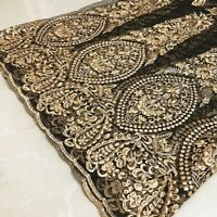 Mesh lace gold three-dimensional embroidery embroidery wedding dress fabric