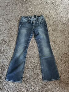Harley Davidson Women's Distressed Boot Cut Jeans Size 6 New