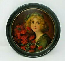 Carnation Girl 1908 Tray
