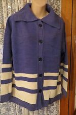VINTAGE ~ Blue/Cream ~ Tunic CARDIGAN/TOP  * Size 18  * REDUCED !!