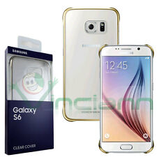 Samsung Custodia Clear Cover per Galaxy S6 Oro