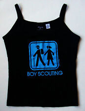 David & Goliath Girl Scout Boy Scouting Funny Top Shirt size medium M