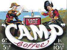 Camp Coffee  , Retro metal Aluminium Sign vintage..