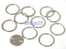 "Wholesale Lot Key Rings 28mm 1 1/8"" Split Rings Keychain 10-1000pcs K19"