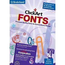 Clickart Fonts V5  (PC, 2008) *New,Sealed*