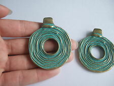 A Large Verdigris Patina Greek Bronze Open Charms Pendants For Jewellery Making