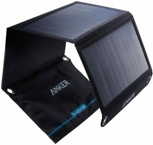 Anker 21W Portable Solar Charger Foldable Panel 2-Port USB Power Bank Outdoor