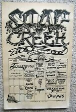 Soap Creek January 1981 Armadillo Calendar Poster Marcia Ball Doug Sahm Cobras