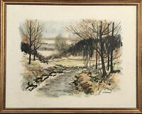 Naturalist v. Öberg - Scandinavia Autumn Landscape Oil Painting 23 5/8X29 1/2in