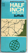COLLECTABLE MAP BARTHOLOMEW HALF INCH SERIES SUFFOLK