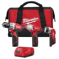 """Milwaukee 2493-23 M12 3/8"""" Impact Wrench / Drill Driver 2 Batteries and Charger"""