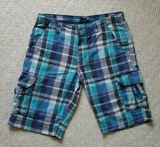 BROOKSFIELD Plaid Shorts Boys Size 14 Blue and Turquoise