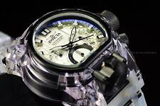 Invicta Men's 52mm Bolt Zeus Magnum Transparent Silicone Band White Dial Watch