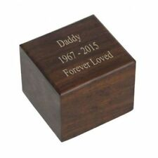 Small/Keepsake 6 Cubic Inch Windsor Wood Funeral Cremation Urn for Ashes