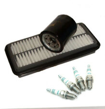 KIA PICANTO 1.0 1.1 Oil Air Filters Spark Plugs Service Kit 2004 to 2011