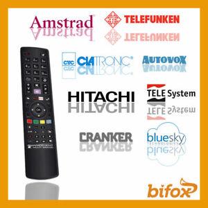 TELECOMANDO TV UNIVERSALE COMPATIBILE TELESYSTEM TENSAI ULTRAVOX WEGAVOX HITACHI