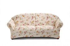 Sofa Couch 2,5-Sitzer Polstersofa Landhaus weiß floral Blumen Muster romantisch