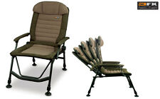 Fox NEW FX Super Deluxe Recliner Carp Fishing Chair With Arms - CBC047