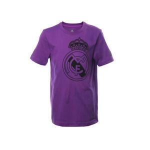 Real Madrid Fan Tee 2016-2017 Youth Boys Purple Adidas BNWT AY9641