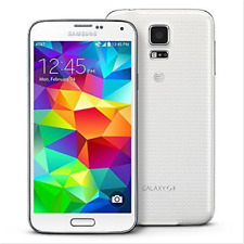 """Unlocked Samsung Galaxy S5 4G LTE SM-G900A 16GB 5.1"""" Mobile Phone Shimmery White"""