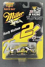 New listing HIGH PERFORMANCE SPORTS MARKETING 25TH ANNIVERSARY #2 RUSTY WALLACE MILLER 1:64