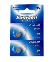 2 x CR927 3V Lithium Knopfzelle 30 mAh ( 1 Blistercard a 2 Batterien ) Eunicell