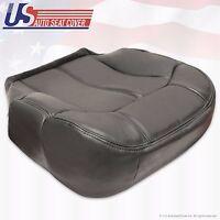 2000 Chevy Tahoe Suburban Driver Bottom Leather-Seat Cover graphite dark Gray