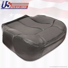 99 -02 Chevy Tahoe Suburban Driver Bottom Leather Seat Cover graphite darkGray