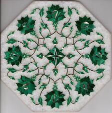 Marble Inlay Parchin Kari Art Handmade 8″ Floral Mosaic Home Decor Indian Art