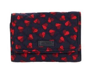Vera Bradley RFID Riley Compact Wallet in Sweet Hearts ❤️ New