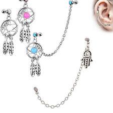 Dream Catcher Helix Earring Ear ChainDangle Body Piercing Jewelry eBay 34
