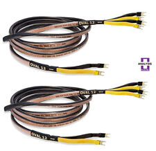 Analysis Plus Bi-Wire Black Oval 12 Bi-Wired Speaker Cable Stereo Pair 4 ft