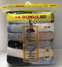 New Fruit of The Loom Girls Briefs Size 14 Panties Underwear 18 pack