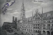 AK MÜNCHEN Neues Rathaus, s. Scan, gel. 1921