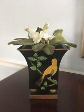 Hand painted metal decorative vase