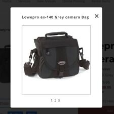 NEW without Tags Lowepro EX140 Digital SLR Camera Photo and Video Bag Black Gray