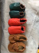 Baby moccasins leather Shoes New 3 pairs