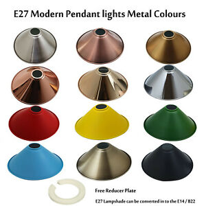 Modern Cone Light Shades Metal Easy Fit Ceiling Pendant Hanging Wall Lampshade