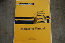 VERMEER SW3000 SILAGE WRAPPER Owner Operator Operation Maintenance Manual book