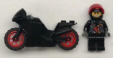 Lego Black Motorcycle Racer Guy Minifig Lot: figure rider driver sport bike city