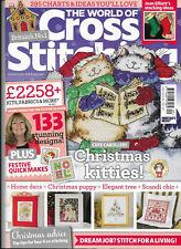 The World of Cross Stitching Iss 209 Joan Elliott Christmas Stocking  Kitties