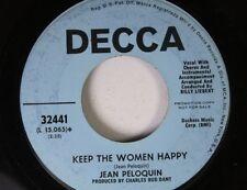 Rock Promo 45 Jean Peloquin - Keep The Women Happy / Hand Me Sown Heart On Decca