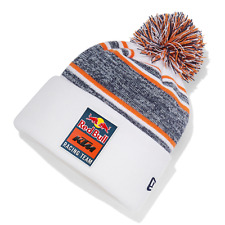 NEW 2021 KTM RED BULL RACING TEAM NEW ERA WHITE PomPom Beanie Hat - KTM19049