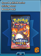 50 Pokemon Shining Fates TCG ONLINE CODE Booster Packs Delivered In Game