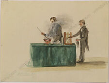"Count Anton Harrach ""Cooking"", Watercolor, 1840s"