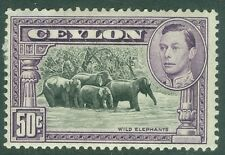 CEYLON : 1938. Stanley Gibbons #394a Perf 13½x13 VF, Mint OG. Scarce. Cat £425.