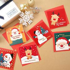 2 Pcs Greeting Card Santa Claus Birthday Christmas Thanksgiving Lovers Cards E6