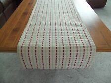"""Brand New Beige and Rust Color Striped Table Runner/Dresser Scarf  15"""" x 58"""""""