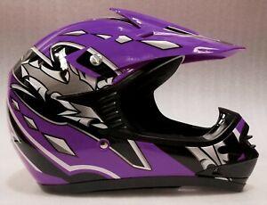 Motocross Helmet Kids, Youth, S, M, L, PURPLE, Aust. Std, Dirt bike, quad