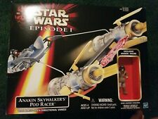 New Hasbro Star Wars Anakins Pod Racer Phantom Menace + free figure.
